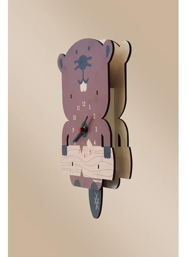 Peoples Clock Yaramaz Kunduz Sallanan Sarkaçlı Çocuk Odası Duvar Saati Renkli